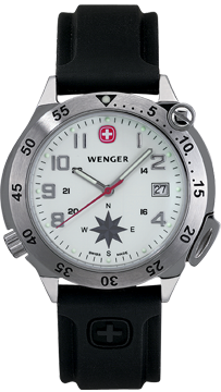 Wenger watch Compass Navigator 70373, with compass, gents