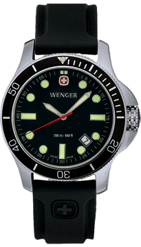 Wenger watch New Battalion Diver 72324, 200m, date, swiss watch