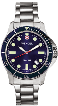 Wenger watch New Battalion Diver 72328, 200m, date, swiss watch