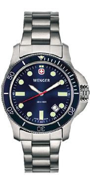 Wenger watch New Battalion Diver 72338, 200m, date, swiss watch