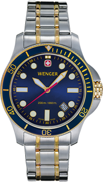 Wenger watch New Battalion Diver 72346, 200m, date, swiss watch