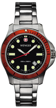 Wenger watch New Battalion Diver 72347, 200m, date, swiss watch