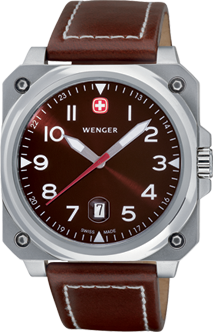 Wenger watch AeroGraph Cockpit 3 hands 72423, date, gent