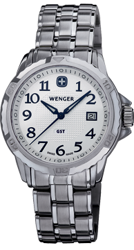 Wenger watch GST 3-Hands 78239 Date, gents