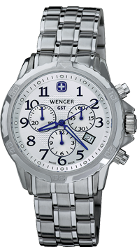 Wenger watch GST Chrono 78259, chronograph, date, gents