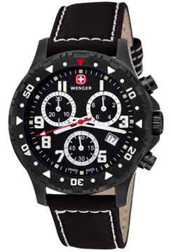 Wenger Watch Off Road Chrono 79354W, PVD, Date, gents