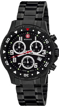 Wenger Watch Off Road Chrono 79359W, PVD, Date, gents