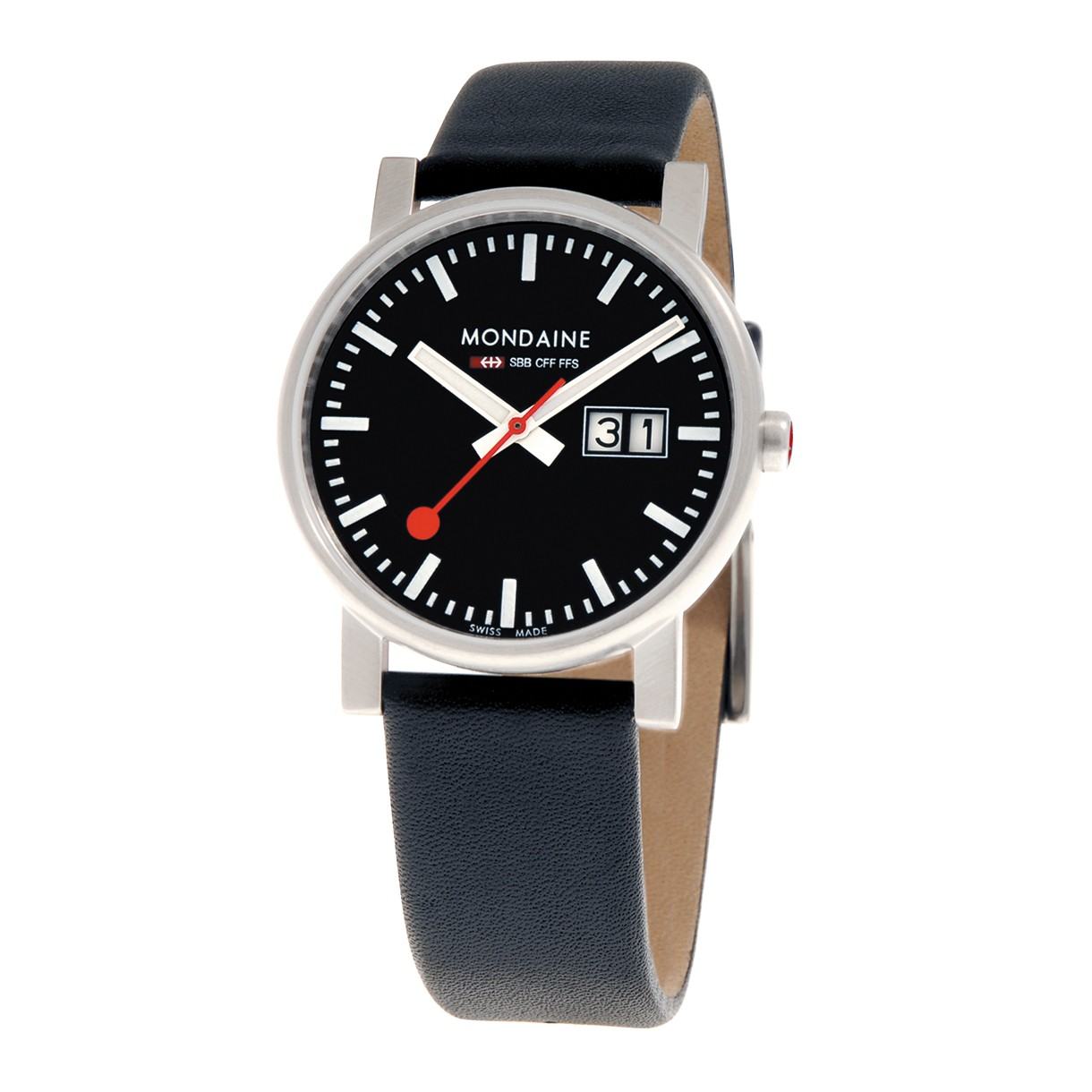 Mondaine swiss watch EVO GENTS BIG DATE - A669.30300.14SBB